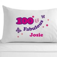 Personalised 100 and Fabulous Pillowcase
