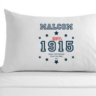 Personalised 100th Birthday Established (Year) Pillowcase for Him