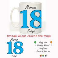 Personalised 18th Birthday Mug For Him