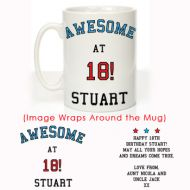 Personalised 18th Birthday Mug For Him