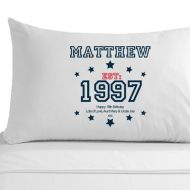 Personalised 18th Birthday Established (Year) Pillowcase for Him