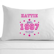 Personalised 18th Birthday Established (Year) Pillowcase for Her