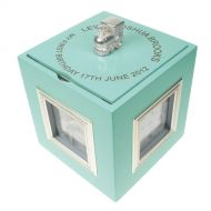First Birthday Blue Musical Keepsake Box with Photo Frames