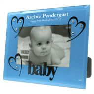 First Birthday Blue Glass Photo Frame