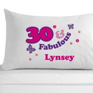 Personalised 30 and Fabulous Pillowcase