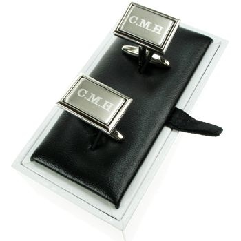 Personalised 90th Birthday Brushed Silver Cufflinks