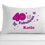 Personalised 40 and Fabulous Pillowcase
