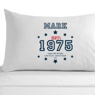 Personalised 40th Birthday Established (Year) Pillowcase for Him