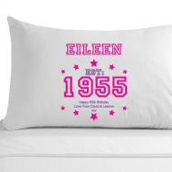 Personalised 60th Birthday Established (Year) Pillowcase for Her