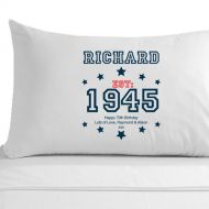 Personalised 70th Birthday Established (Year) Pillowcase for Him