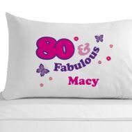 Personalised 80 and Fabulous Pillowcase