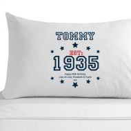 Personalised 80th Birthday Established (Year) Pillowcase for Him
