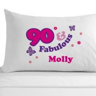 Personalised 90 and Fabulous Pillowcase