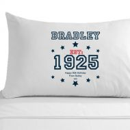 Personalised 90th Birthday Established (Year) Pillowcase for Him