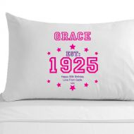 Personalised 90th Birthday Established (Year) Pillowcase for Her