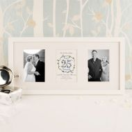 Premium Illustrated 25th Silver Anniversary Wall Frame