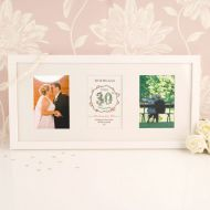 Premium Illustrated 30th Pearl Anniversary Wall Frame