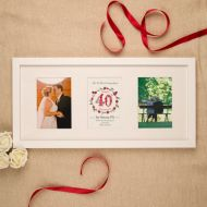Premium Illustrated 40th Ruby Anniversary Wall Frame