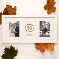 Premium Illustrated 50th Golden Anniversary Wall Frame