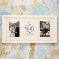 Premium Illustrated 60th Diamond Anniversary Wall Frame