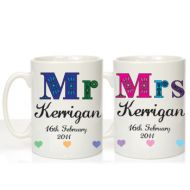 Mr and Mrs 25th Wedding Anniversary Mugs