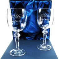 25th Anniversary Mr and Mrs Wine Glasses