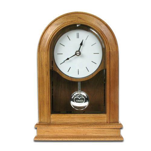 Personalised 25th Wedding Anniversary Oak Clock Personalised 25th