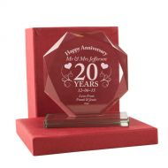 Personalised 20th Anniversary Presentation Gift