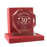 Personalised 30th Anniversary Presentation Gift