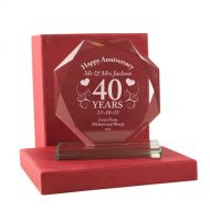 Personalised 40th Anniversary Presentation Gift