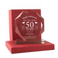 Personalised 50th Anniversary Presentation Gift
