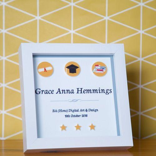 Personalised 3D Graduation Box Frame