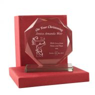 Personalised Christening Cut Glass Gift