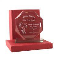 Personalised Godson Glass Presentation Gift