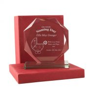 Personalised Naming Day Cut Glass Gift