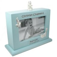 Laser Engraved Baptism MDF Photo Album: Boy