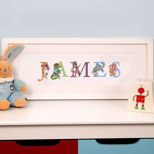 Illustrated Childs Phonetic Name Frame: STANDARD