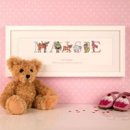 Illustrated God Daughter Phonetic Name Frame