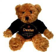 Brown Christening Teddy Bear for a Boy