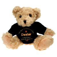 Light Brown Christening Teddy Bear for a Boy