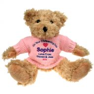 Personalised Christening Teddy Bear for Her