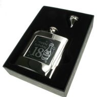 Presentation Boxed 18th Birthday Hipflask