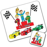 Racing Cars Design Placemat and Coaster Set