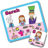 Tea Party Design Placemat and Coaster Set