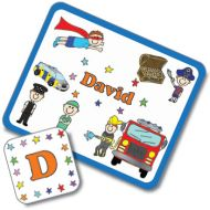 When I Grow Up Design Placemat and Coaster Set