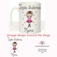 Little Ballerina Message Mug