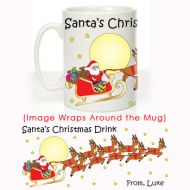 Santa's Christmas Drink Message Mug