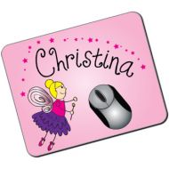 Personalised Kids Mousemat: Fairy Design