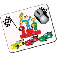 Personalised Kids Mousemat: Racing Cars Design