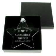 Personalised Christening Star: Girl